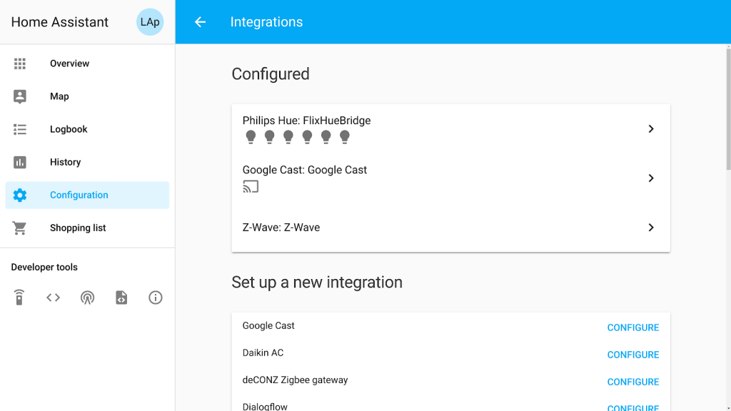 home assistant component
