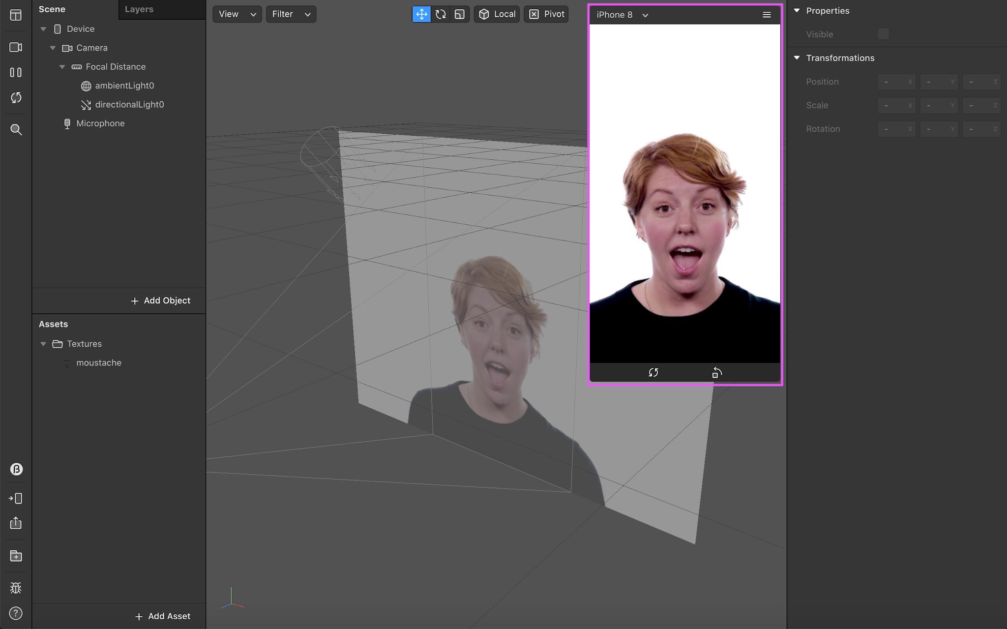 Spark AR Studio UI
